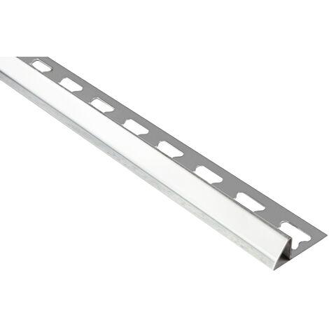 Profil d'ajustement 12mm | rails de carrelage en acier inoxydable - argent | EUE economy pack