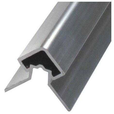 """main image of """"Profil d'angle alu extérieur pour bardage - Coloris - Aluminium brut, Epaisseur - 4cm, Largeur - 4.3 cm, Longueur - 270 cm"""""""