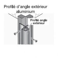 Profil d'angle alu extérieur pour bardage - Coloris - Aluminium brut, Epaisseur - 4cm, Largeur - 4.3 cm, Longueur - 270 cm