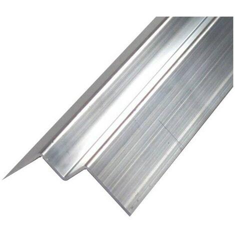 Profil d'angle alu intérieur pour bardage - Coloris - Aluminium brut, Epaisseur - 3 mm, Largeur - 7.7 cm, Longueur - 270 cm