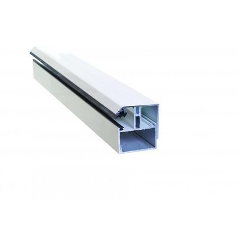 Profil de bordure porteur adaptable au polycarbonate 16/32 mm en aluminium laqué