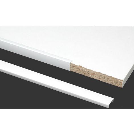Profil de chant PRUNIER U 19 X 10 – Blanc – 2600 mm