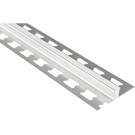 Profil de joint de dilatation 10mm   rails de carrelage en acier inoxydable - argent brossé   pack économique ED
