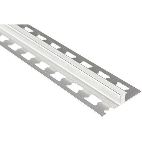 Profil de joint de dilatation 12mm   rails de carrelage en acier inoxydable - argent brossé   pack économique ED