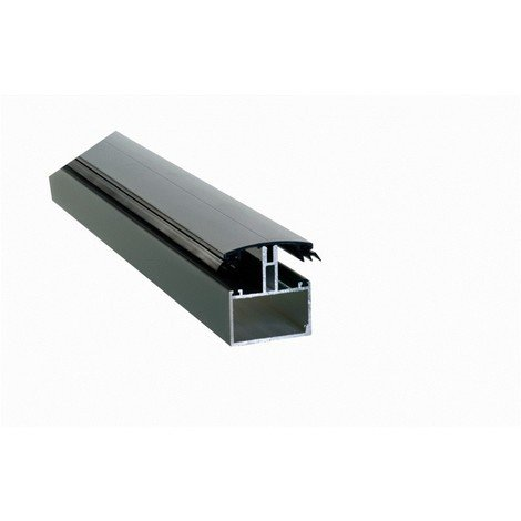 Profil de jonction porteur en H adaptable au polycarbonate 16/32mm en aluminium laqué