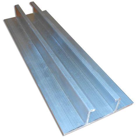 Profil de montage rapide en alliage d'aluminium pour les toit en tôle trapézoïdale - 3,20 m