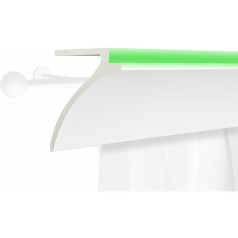Profil de rideau LED | stucco | PU | écran | antichoc | 120x100mm | KF802