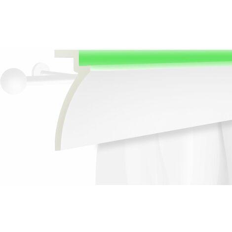 Profil de rideau LED | stucco | PU | écran | antichoc | 125x60mm | KF801