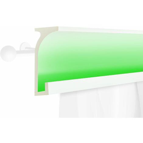 Profil de rideau LED | stucco | PU | écran | antichoc | 150x60mm | KF803
