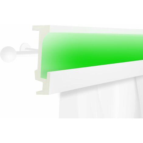Profil de rideau LED | stucco | PU | écran | antichoc | 160x56mm | KF804