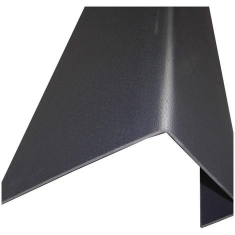 Profil de rive toiture tuile PVC L 188 cm - Coloris - Gris anthracite, Largeur - 38 cm, Longueur ...