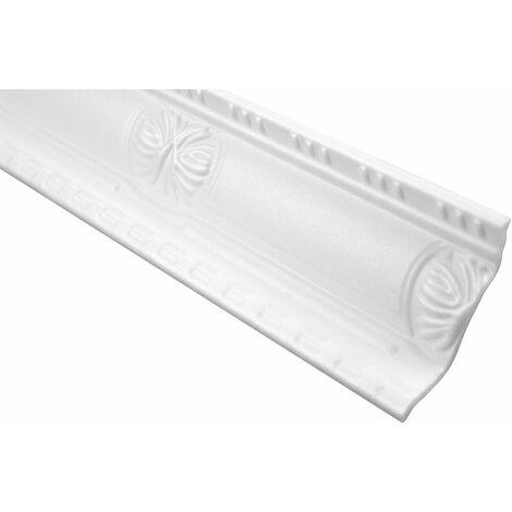 Profil décoratif Bande à rouleau en polystyrène Bande d'angle Décor Stucco | Hexim | 93x45mm | M-20