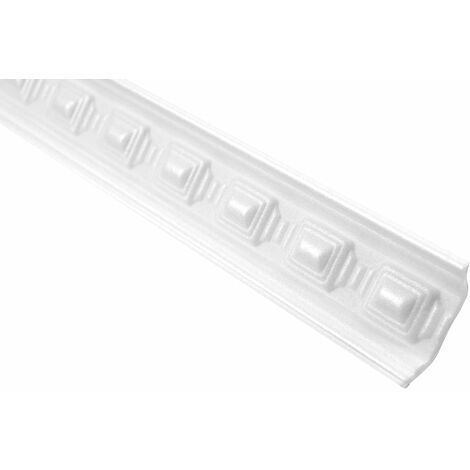 Profil décoratif Bande à rouleaux en polystyrène Bande d'angle Décor Stucco | Hexim | 40x40mm | M-15