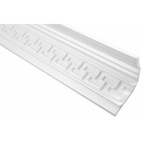 Profil décoratif polystyrène bande à rouleau bande d'angle décorative stucco | Hexim | 90x50mm | M-17