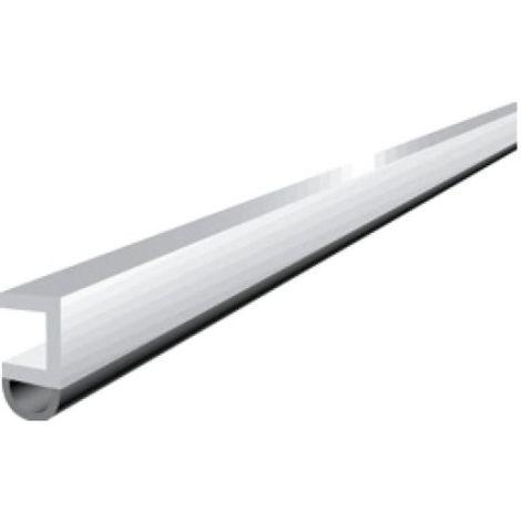 Profil d'encadrement de porte en PVC avec joint PVC souple type PTS - N coloris blanc