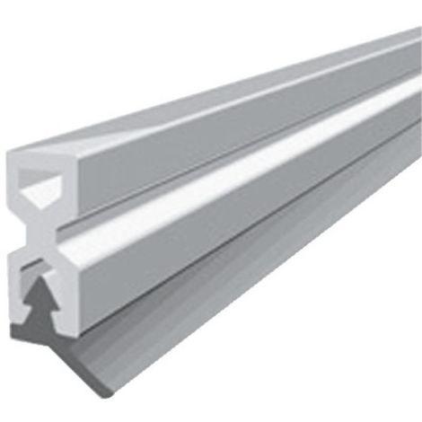 Profil d'encadrement de porte en PVC avec lèvre PVC souple type PTS - X coloris blanc