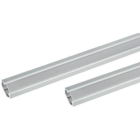 Profil ELM9012/2 Aluminium à Angle avec Couvercle Mat 200cm ELMARK