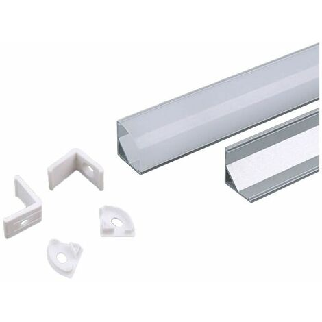 Profil en aluminium 2mt 15,8x15,8 pour bandes de leds blanches vt-8109-w 3369