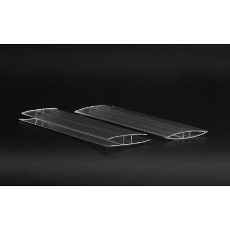 Profil en H, pour polycarbonate - longueur profil (cm) 150- pour plaque épaisseur (mm) 10