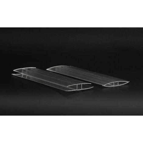 Profil en H, pour polycarbonate - longueur profil (cm) 150 - pour plaque épaisseur (mm) 4,5