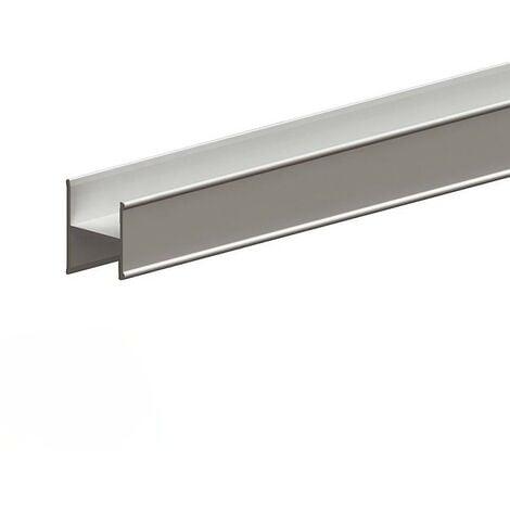 Profil en H pour porte 19 mm - L 1800 mm - argent - Argent