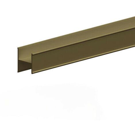 Profil en H pour porte 19 mm - L 1800 mm - bronze - Bronze