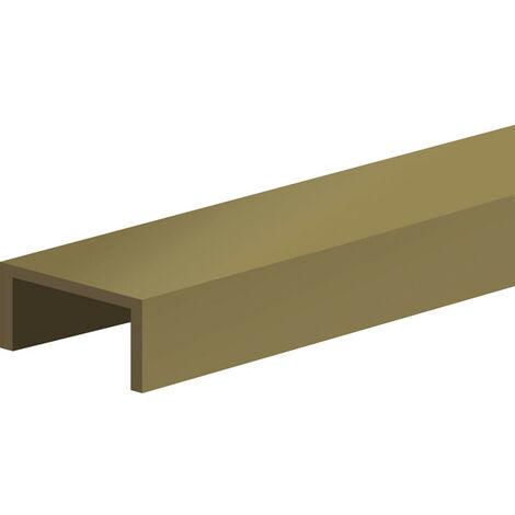 Profil en U pour porte 18 mm - L = 3000 mm - bronze