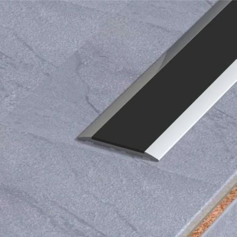 Profil plat en alu anodisé à bande antidérapante modèle 5T