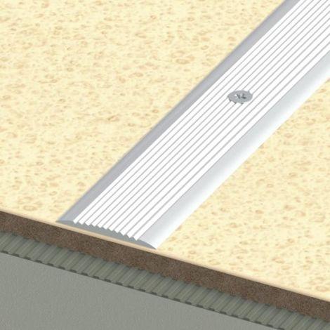 Profil plat en alu anodisé strié antidérapant modèle FA31