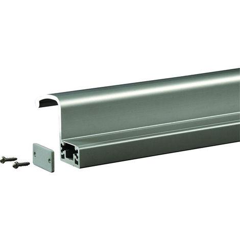 Profil poignée de tirage interne 2500 mm GROOM pour GRS300 - Argent - GRS398001