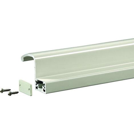 Profil poignée de tirage interne 2500 mm GROOM pour GRS300 - Blanc 9010 - GRS398007