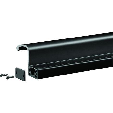 Profil poignée de tirage interne 2500 mm GROOM pour GRS300 - Noir 9005 - GRS398005