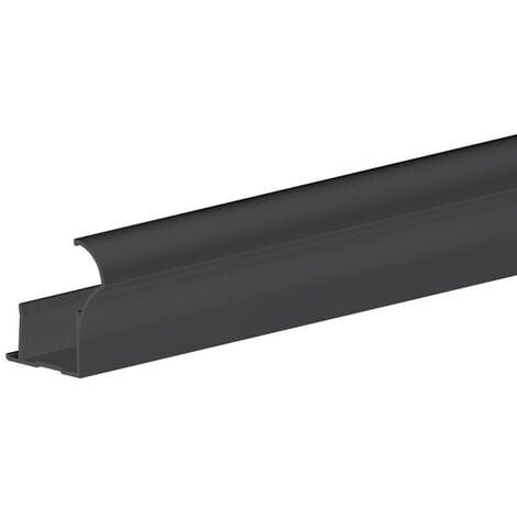 Profil poignée pour porte 18 mm - L 2700 mm - noir - Noir