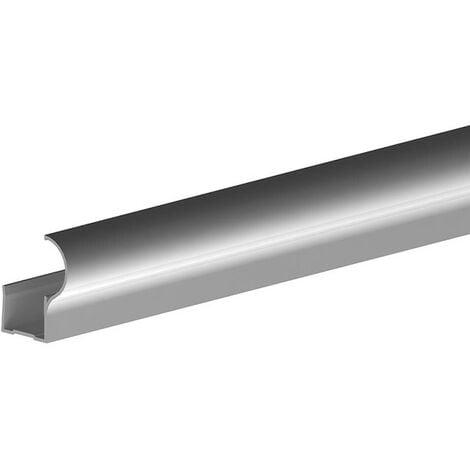 Profil poignée pour porte 19 mm - L 2700 mm - argent - Argent