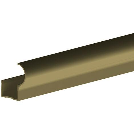 Profil poignée pour porte 19 mm - L 2700 mm - bronze - Bronze