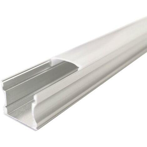 Profilé Aluminium 1m pour Ruban LED - Couvercle Opaque - SILAMP