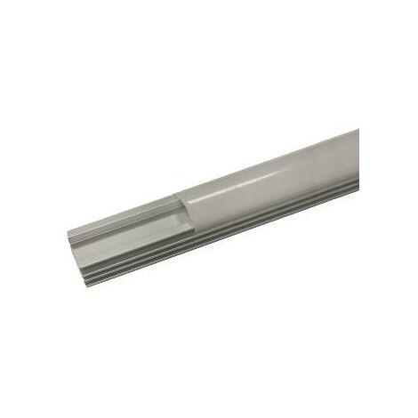 Profilé Aluminium 1m pour Ruban LED Couvercle Opaque - SILAMP
