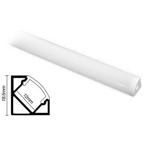 Profilé aluminium 2m pour cornière led GSC 1504504