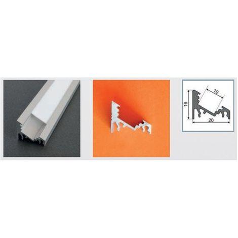 Profilé aluminium anodisé LED ANGLE 30/60° 2000 mm pour bandeau LED