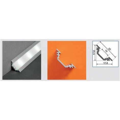Profilé aluminium anodisé LED ANGLE 45° 1000 mm pour bandeau LED
