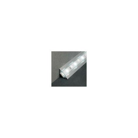 Profilé aluminium anodisé LED ANGLE 45° 2000 mm pour bandeau LED