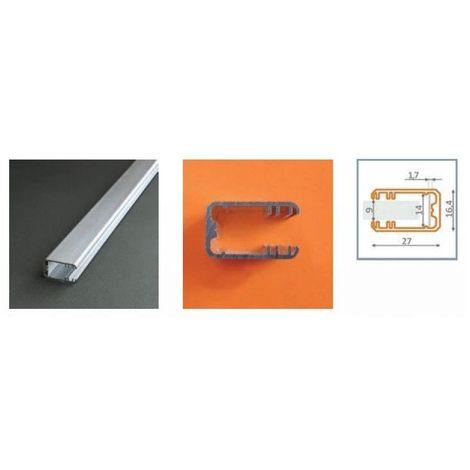 Profilé aluminium anodisé LED GLASS LINE 1000 mm pour bandeau LED