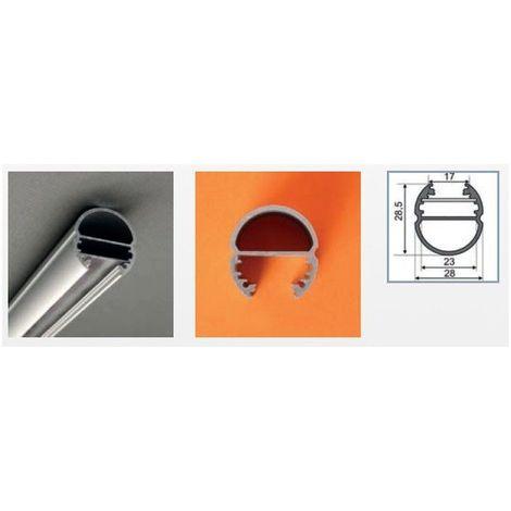Profilé aluminium anodisé LED OVALE 1000 mm pour bandeau LED