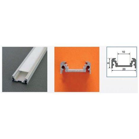 Profilé aluminium anodisé LED PLAT 2000 mm pour bandeau LED