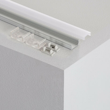 Profilé Aluminium en Saillie avec Capot Continu pour Ruban LED sur Mesure