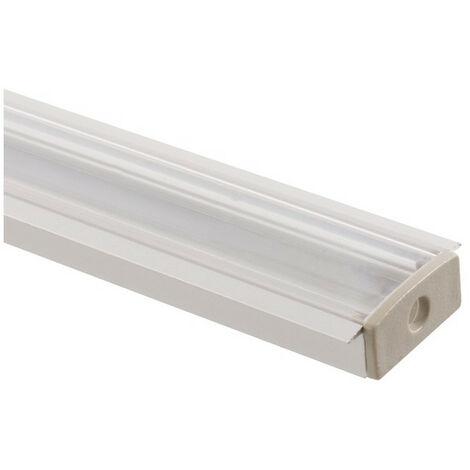 Profilé Aluminium Encastré avec Capot Continu pour Doube Ruban LED sur Mesure