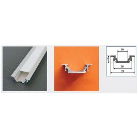 Profilé aluminium LED RAINURE 2000 mm pour bandeau LED