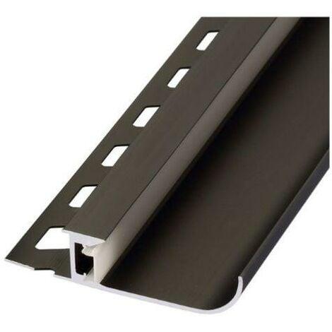 Profilé Aluminium Noir 2m pour Ruban LED - SILAMP