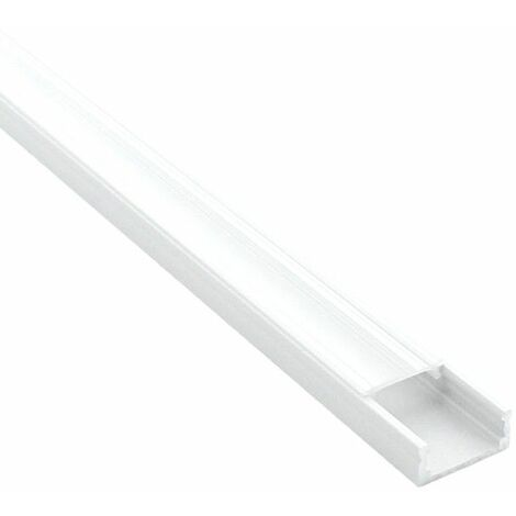 Profilé aluminium plat pour ruban LED - CRAFT - C01 Blanc | Transparent - 1 m - Blanc