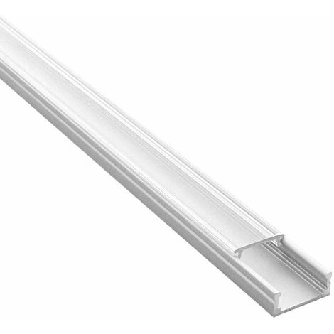 Profilé aluminium plat pour ruban LED - CRAFT - C01 | Transparent - 1 m - Aluminium - 11